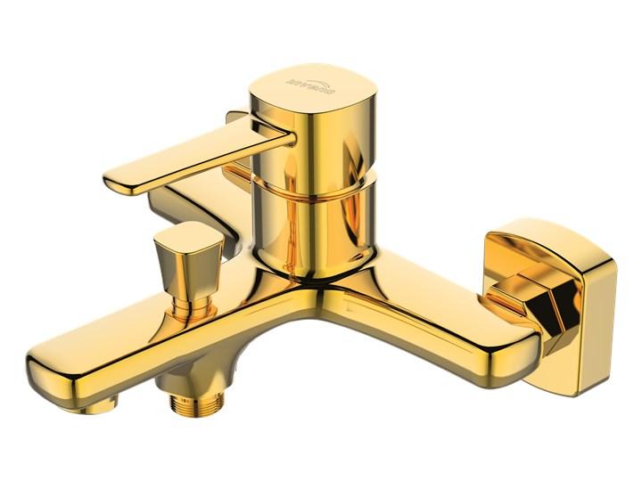 BATERIA WANNOWA GLAMOUR INVENA TREND ZŁOTA Bateria ścienna Kolor Biały Kolor Złoty