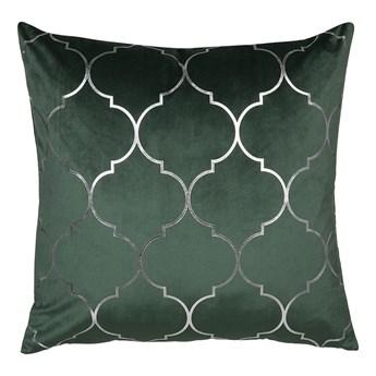 Poduszka dekoracyjna zielona marokańska koniczyna 45 x 45 cm z wypełnieniem akcesoria salon sypialnia
