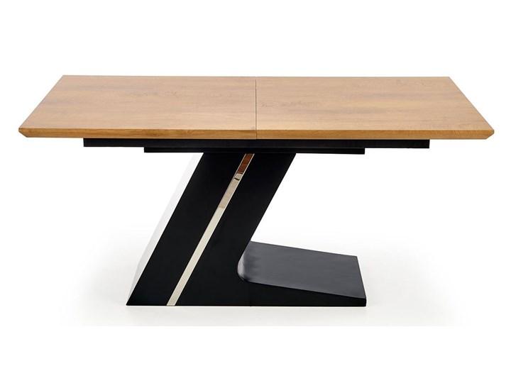 Nowoczesny rozkładany stół Azira - dąb Szerokość 90 cm Długość 90 cm  Wysokość 75 cm Drewno Długość 220 cm Rozkładanie