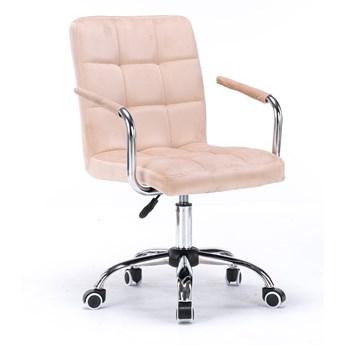 Krzesło obrotowe welurowe HARIS (SC-ZT1305) / Beżowe