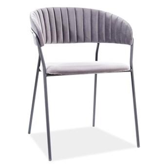 Krzesło LIRA B VELVET szare SIGNAL