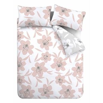 Różowo-biała pościel Catherine Lansfield Lily, 200x200 cm