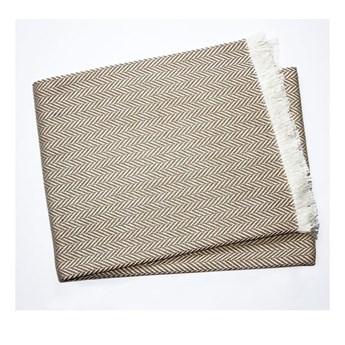 Szarobrązowy pled z domieszką bawełny Euromant Skyline, 140x180 cm