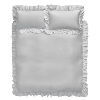 Szara bawełniana pościel Bianca Frill, 200x200 cm