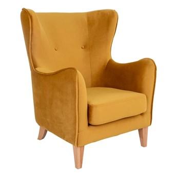 Żółty fotel uszak House Nordic Campo