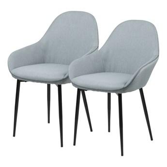 SELSEY Zestaw dwóch krzeseł tapicerowanych Merisor szare
