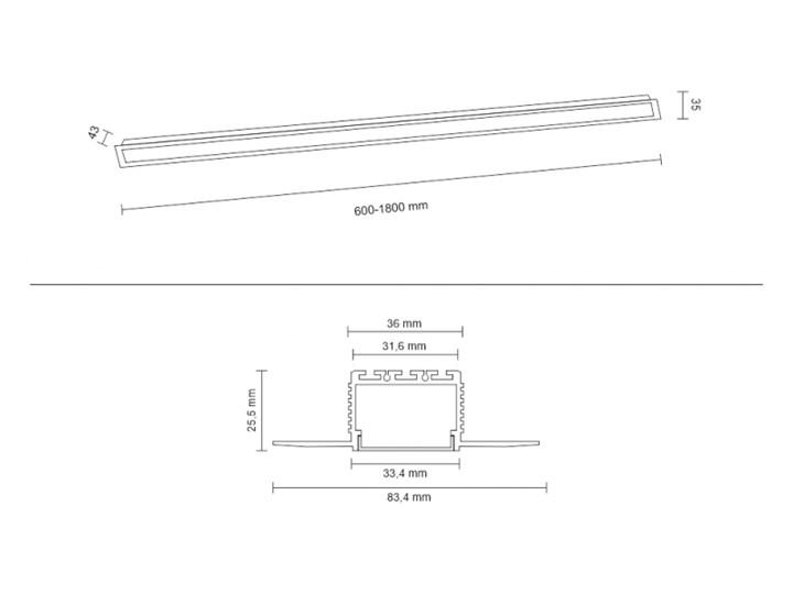 Oprawa wpuszczana HIATE LINE SHILO  1820 Oprawa led Oprawa stropowa Kategoria Oprawy oświetleniowe