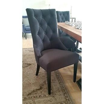 Krzesło welurowe do jadalni w stylu glamour MEDIOLAN