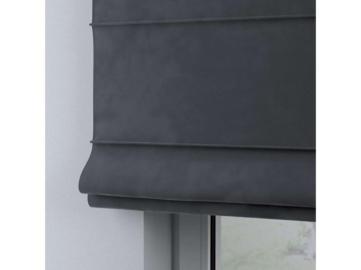 Roleta rzymska Billie, grafitowy szary, szer.80 × dł.170 cm, Posh Velvet Pomieszczenie Pokój przedszkolaka Kategoria Rolety