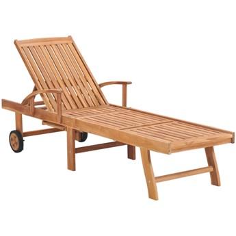 Drewniany leżak ogrodowy - Algero 2X