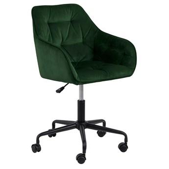 Ciemnozielony fotel obrotowy - Pammi