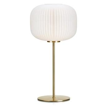 Markslöjd 107819 - Lampa stołowa SOBER 1xE27/60W/230V biały/mosiądz