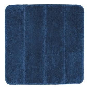 Ciemnoniebieski dywanik łazienkowy Wenko Steps, 55x65 cm