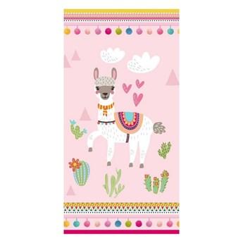 Ręcznik plażowy z nadrukiem Good Morning Lama, 75x150 cm