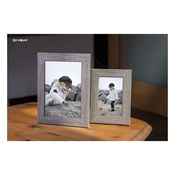 Szarobrązowa ramka na zdjęcia Styler Narvik, 46x56 cm
