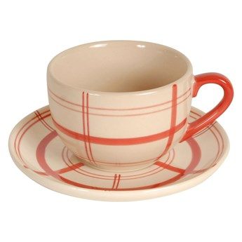 Filiżanka ceramiczna ze spodkiem Antic Line Cup Sharp, ⌀ 9 cm