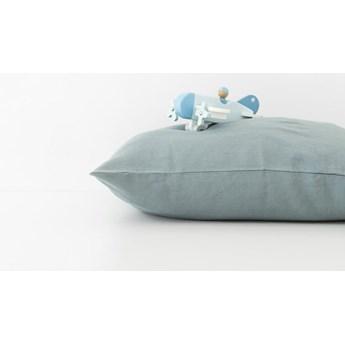 Dziecięca niebieski lniana poszewka na poduszkę Linen Tales Nature, 40x60 cm