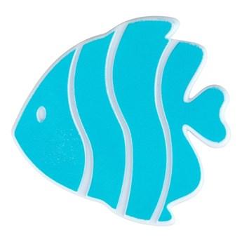 Zestaw 5 jasnoniebieskich antypoślizgowych naklejek do wanny Wenko Fish