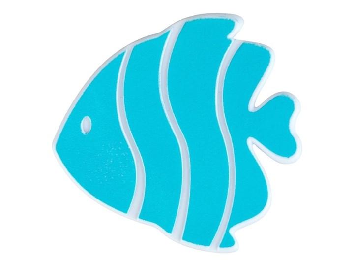 Zestaw 5 jasnoniebieskich antypoślizgowych naklejek do wanny Wenko Fish Syntetyk Kategoria Dywaniki łazienkowe