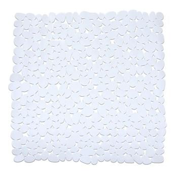 Biała antypoślizgowa mata prysznicowa Wenko Drop, 54x54 cm