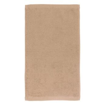 Ciemnobeżowy bawełniany ręcznik Boheme Alfa, 30x50 cm