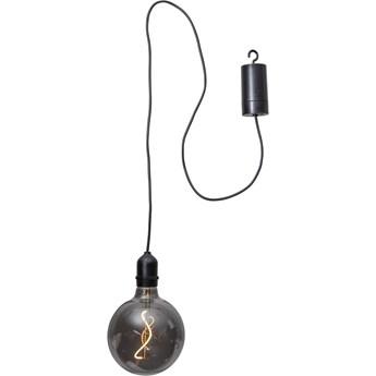 Czarna ogrodowa dekoracja świetlna LED Star Trading Glassball, dł. 1 m