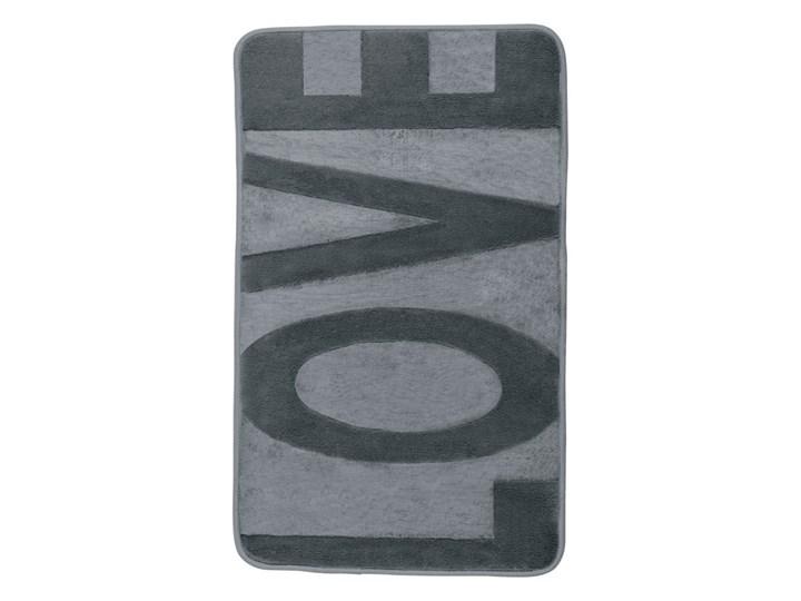 Szary dywanik łazienkowy z pianką z pamięcią kształtu Wenko Love, 80x50 cm