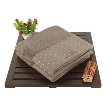 Zestaw 2 brązowych ręczników Patricia, 50x90 cm