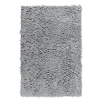 Jasnoszary dywanik łazienkowy Wenko Chenille, 80x50 cm