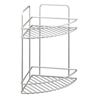 2-piętrowa ścienna narożna półka łazienkowa Metaltex Refl
