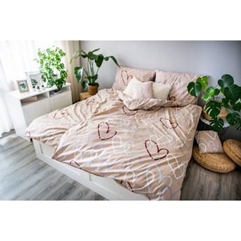 Beżowa bawełniana pościel Cotton House Dita Love, 140x200 cm