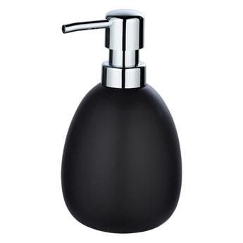 Matowy czarny ceramiczny dozownik do mydła Wenko Polaris