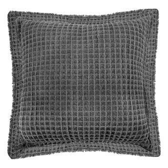 Szara bawełniana poduszka dekoracyjna Tiseco Home Studio Waffle, 45x45 cm