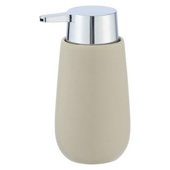 Beżowy ceramiczny dozownik do mydła Wenko Badi, 320 ml