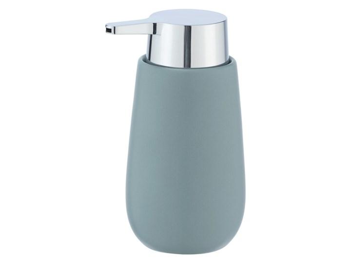 Szaroniebieski ceramiczny dozownik do mydła Wenko Badi, 320 ml
