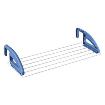 Niebieska suszarka na pranie na kaloryfer/balkon Metaltex