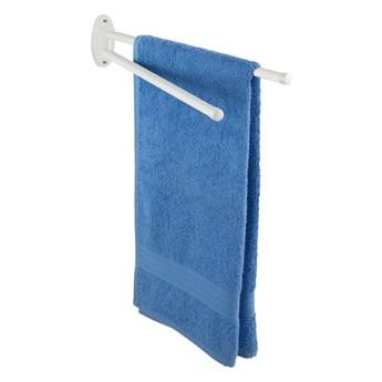 Biały uchwyt ścienny na ręczniki Wenko Basic 2 Arms Oval Base