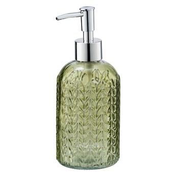 Zielony szklany dozownik do mydła Wenko Vetro