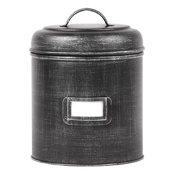 Czarny pojemnik metalowy LABEL51, ⌀ 10 cm