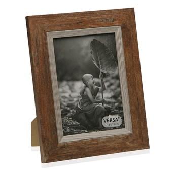 Ramka na zdjęcie w dekorze drewna Versa Madera Marron, 20x25 cm