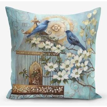 Poszewka na poduszkę z domieszką bawełny Minimalist Cushion Covers Blue Bird, 45x45 cm