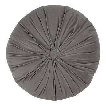 Szara aksamitna poduszka dekoracyjna Tiseco Home Studio Velvet, ø 38 cm