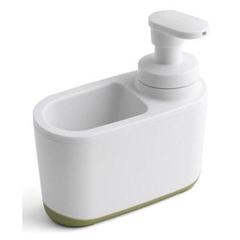 Biało-zielony dozownik do mydła Addis