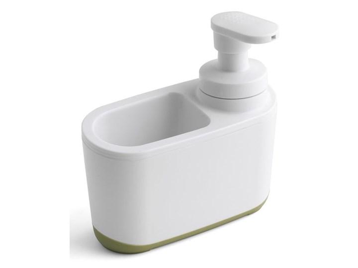 Biało-zielony dozownik do mydła Addis Dozowniki Tworzywo sztuczne Kolor Biały