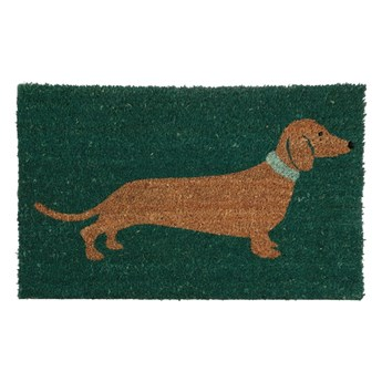 Zielona wycieraczka Premier Housewares Sausage Dog, 40x60 cm