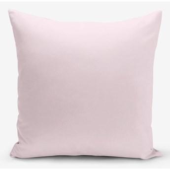 Różowa poszewka na poduszkę z domieszką bawełny Minimalist Cushion Covers, 45x45 cm