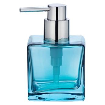 Niebieski szklany dozownik do mydła Wenko Lavit, 280 ml