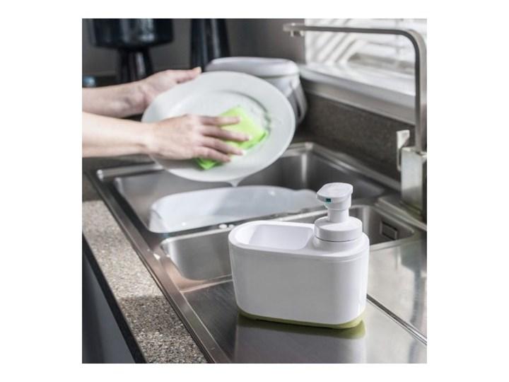 Biało-zielony dozownik do mydła Addis Dozowniki Tworzywo sztuczne Kolor Biały Kategoria Mydelniczki i dozowniki