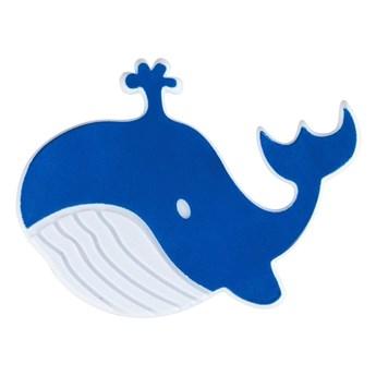 Zestaw 5 niebieskich antypoślizgowych naklejek do wanny Wenko Whale