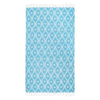 Turkusowy ręcznik hammam Kate Louise Calypso, 165x100 cm